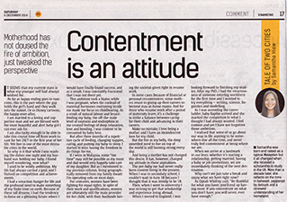 Post image for Contentment is an attitude