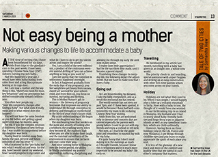 Thumbnail image for Not easy being a mother